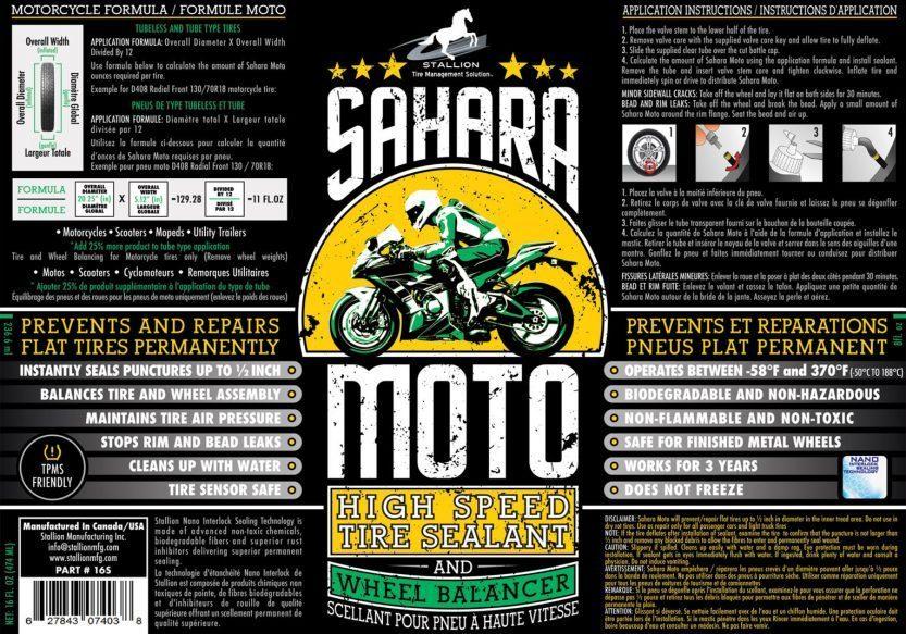 SAHARA MOTO (tire balancer & tire sealant)   STALLION Tire